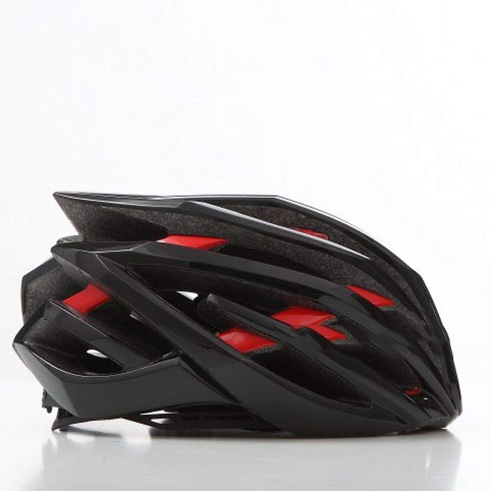 GLEI-TK Erwachsene Bike-Helm Impact Resistant, Light Weight, Adjustable Fit EPS, PC Sports Road Cycling Erholungs-Radfahren Radfahren Bike,schwarz