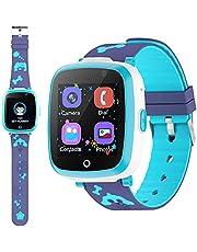 ETPARK Orologio Intelligente Bambini con 6 Giochi,Kids Smart Watch Phone per Bambini Musica MP3,LBS Anti-perso Orologio Intelligente Bambini con Telefono Allarme Camera,3-12 YsRegalo Ragazzo e Ragazza