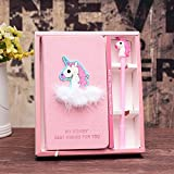 KOMIWOO Unicorn Journal Gel Pen Set - Adorable Birthday Gifts for Girls of All Ages: 3 4 5 6 7 8 9 10 11 12