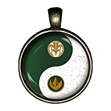 Power Rangers necklace White Ranger Green Ranger Cosplay jewelry gift pendant charm