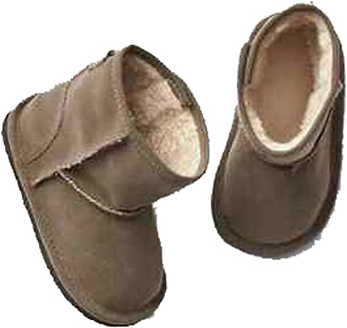 Toddler Girls Size 5 Tan GAP Baby Brown Sherpa-Lined Boots Booties Shoes