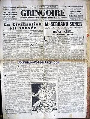 Téléchargements ebook gratuits au format txt GRINGOIRE [No 671] du 17/10/1941 - LA CIVILISATION EST SAUVEE PAR LOMBARD - CARB - M. SERRANO SUNER M'A DIT PAR F.J. SAUTES - QUI A PAYE KERILLIS - VOICI LES NOMS - LES DESSOUS DE LA DEBACLE SOVIETIQUE. PDF