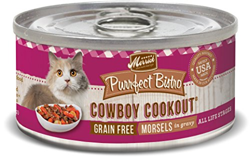 Merrick Purrfect Bistro Grain Free, 5.5 oz, Cowboy Cookout - Pack of (Great China Chew Toy)