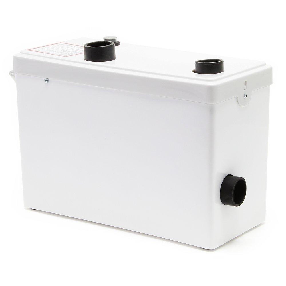Triturador sanitario WilTec 3/1 Equipo elevador aguas residuales 600W Evacuación aguas fecales WC