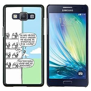 TECHCASE---Cubierta de la caja de protección para la piel dura ** Samsung Galaxy A5 ( A5000 ) 2014 Version ** --Funny Cartoon