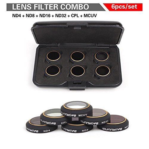 iKNOWTECH 6in1 Package Sale (ND4 ND8 ND16 ND32 MCUV CPL) HD Lens Filters Gimbal Camera Accessorie for DJI MAVIC PRO Drone Quadcopter