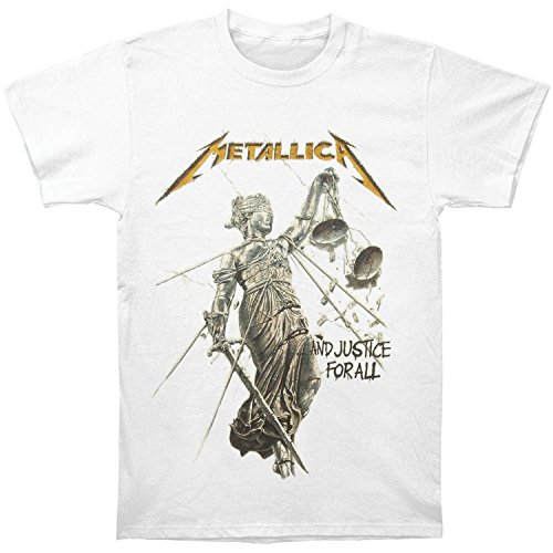 Metallica Men's Justice White T-shirt X-Large White (Shirts Rock Concert T)