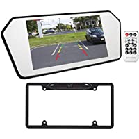 Jeep Wrangler 7 Glass Rearview Mirror Monitor w/ Bluetooth/USB/SD+Backup Camera
