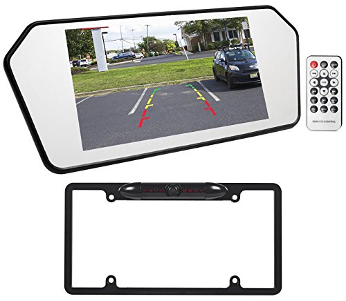 best jeep wrangler 7 glass rearview mirror monitor w bluetooth usb sd backup camera reviews. Black Bedroom Furniture Sets. Home Design Ideas