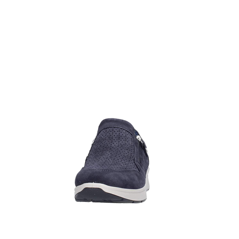 ENVAL Weiche 3266611 Mokassins Mokassins Mokassins Slip-on-Turnschuhe mit Reißverschluss und blauem Leder d5e7eb