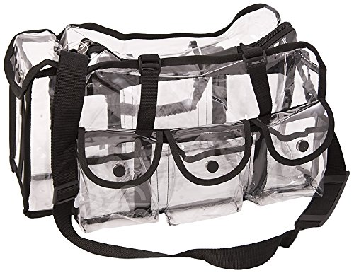 (Casemetic Large Carry Clear Set Bag with 6 External Pockets)