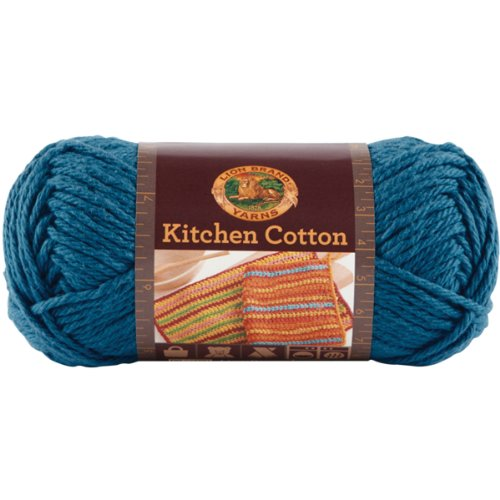 (Lion Brand Yarn 831-106 Kitchen Cotton Yarn, Blueberry)
