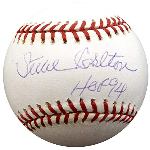(Steve Carlton Signed Official NL Baseball Philadelphia Phillies, St. Louis Cardinals HOF 94 Memorabilia - Beckett Authentic)