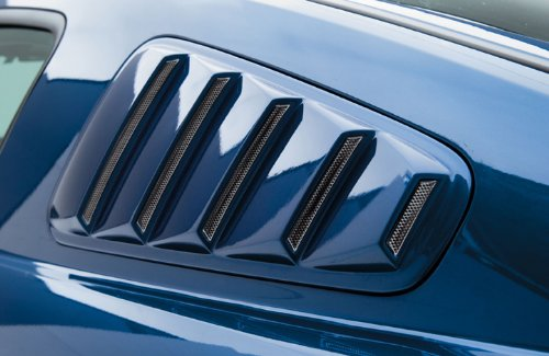 3dCarbon 2005-2009 Mustang Quarter Window Louvers (painted: Yellow - D6)