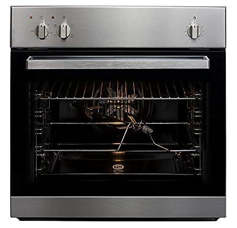 Stainless steel kaff kov bh 60cm 59l black manual built in oven.
