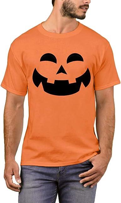 Arvilhill - Camiseta de Manga Corta para Disfraz de Halloween para Hombre - Naranja - Medium: Amazon.es: Ropa y accesorios