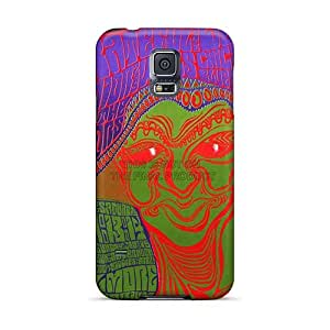LeoSwiech Samsung Galaxy S5 Scratch Resistant Hard Cell-phone Case Unique Design Lifelike Grateful Dead Band Series [aBX17625ZLNY]