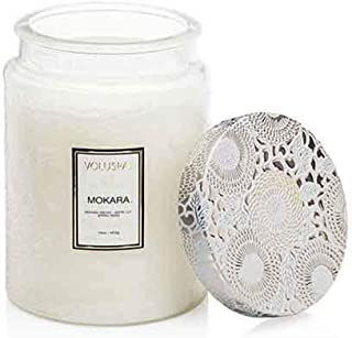 product image for Voluspa Mokara Large Embossed Glass Jar Candle, 16 Ounces