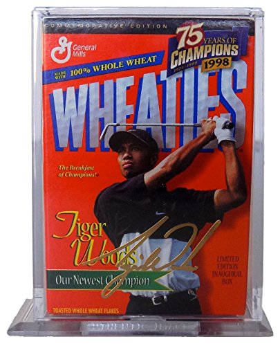 Tiger Woods 24K Gold Facsimile Signature Commemorative Wheaties Mini (Tiger Woods Wheaties Box)