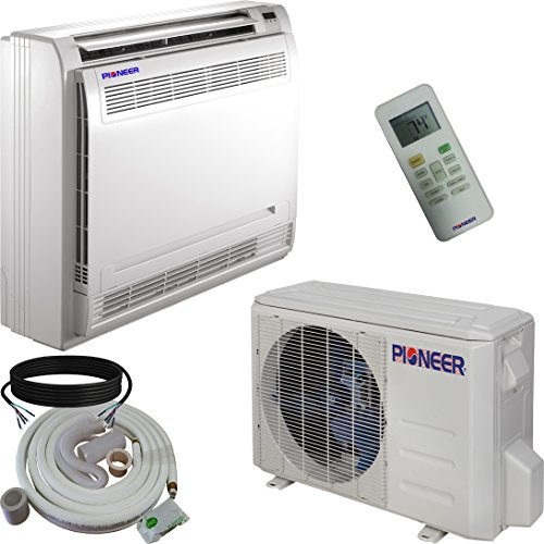Pioneer Floor Console Split Ductless Inverter with Heat Pump System Set, 12000 BTU
