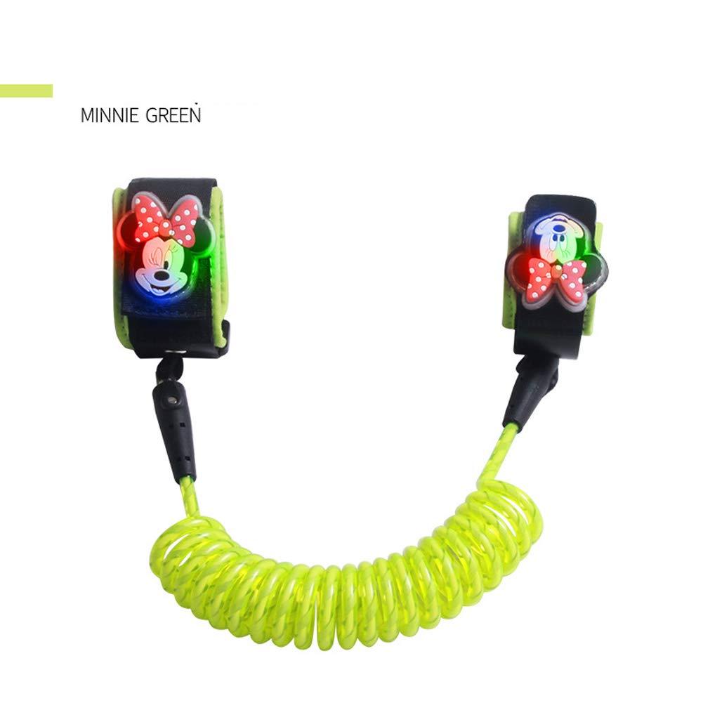 MQC Child Anti-Lost Bracelet Anti-Lost Rope Lock Anti-Lost Belt 1.8 M,Green,1.8m