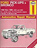 Ford Pick-ups and Bronco 2 and 4 W.D. 1980-90 Owner's Workshop Manual (Automotive repair manual) by John B. Raffa (1990-12-04)