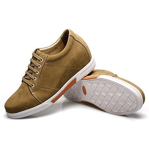 Chamaripa M Mannen Geven Schoenen Suède Skate Schoenen Sneaker - Erh 7.5cm Hen - K70m83-1 Bruin