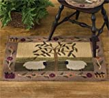 Park Designs Willow and Sheep Hooked Rug