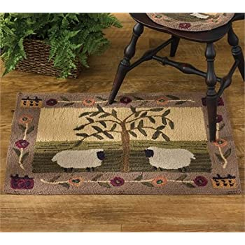 This Item Park Designs Willow And Sheep Hooked Rug