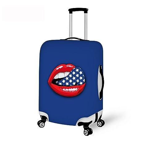 thikin elegante patrón de impresión boca resistente elástico Spandex prueba de arañazos fundas protectoras de maleta equipaje de viaje para ...