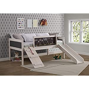 DONCO Twin Art Play Junior LOW LOFT, White Wash/Dark Grey 13