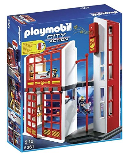 (PLAYMOBIL Fire Station with Alarm)