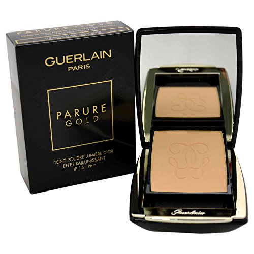 Pressed Powder Light Refill - Guerlain Refillable Parure Gold Radiance Powder SPF15# 02 Clair/Light Beige Foundation for Women, 0.35 Ounce