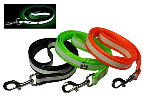 Downtown Pet Supply New Glow in The Dark Dog and Cat Safety Leash Lead, Durable Strong TPU Leash, Suitable for Small Medium and Large Cats or Dogs, Color Black