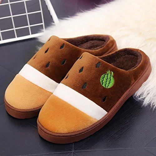 Fankou il creative paio di pantofole di cotone uomini pacchetto con linverno piscina home dormire scarpe Jane ha un antiscivolo tendenza moda ,35-36, (rosa)