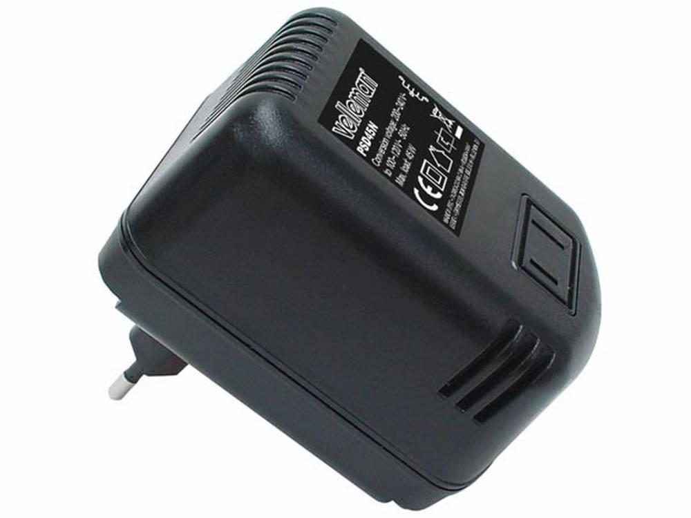 Velleman Voltage Converter 220 V to 110 V, 45 W 45W VELLpsd45n