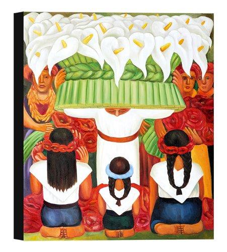 Flower Festival Of Santa Anita By Diego Rivera Stretched Canvas Art Print - 28x38in