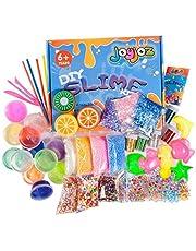 Joyjoz Kit Super Slime - 15 Slime di Colori con Sfere Colorate di Schiuma, Scuotimento di Glitter, e Branelli Dolci della Caramella per Il Fai da Te Melma Craft, Regalo Atossico per Bambini (43Pz)