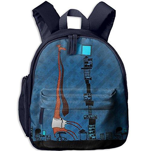 CICIBLUE Tie-funny-office-artwork-drawings-screens-giraffe-2560x1600-wallpaper Boy&girl's Kids Backpack 3D Print Toddler Toys Bag Book Bag Preschool Backpack Navy (2560 Print)