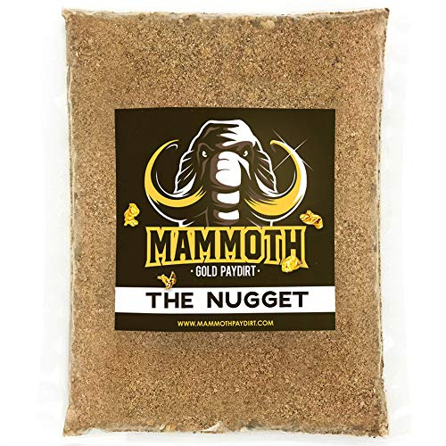 Nuggets Rocks - Mammoth Gold Paydirt 'The Nugget' Panning Pay Dirt Bag - Gold Prospecting Concentrate