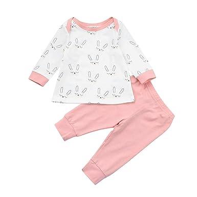 d7a6e49ee7b Ropa Bebe Niña Otoño Invierno SMARTLADY 0- 18 meses Recién Nacido Niña  Camisetas de manga
