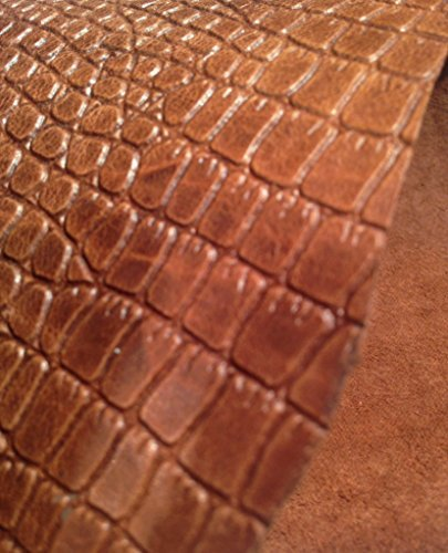 REED® LEATHER HIDES - WHOLE SHEEP SKIN 7 to 10 SF - Various Colors (Whiskey - Fabric Gator Skin