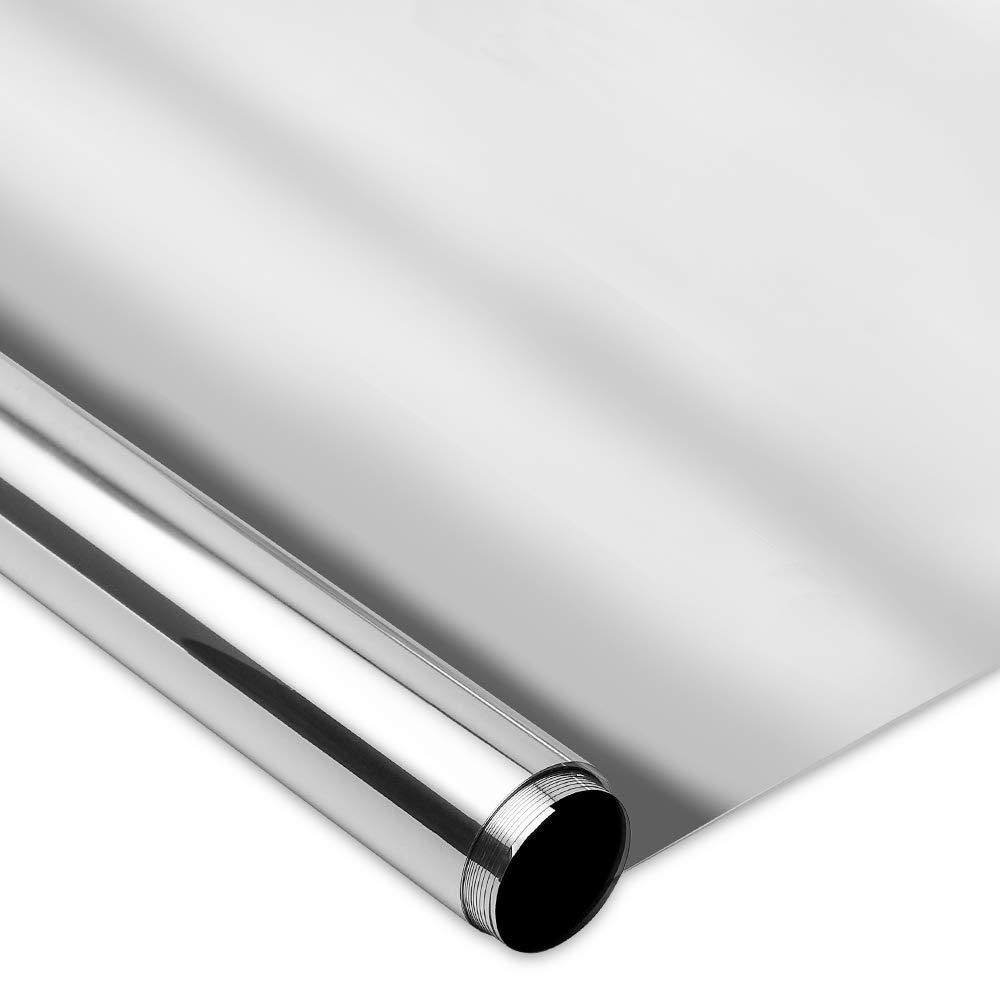 Helles Silber, 44.5 x 200 cm Homein Spiegelfolie Selbstklebend Helles Silber,