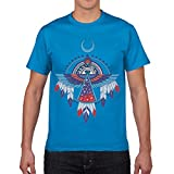 Caroya Men's Graphic T-Shirt Summer Hip Hop T Shirts Casual O Neck Tops American Thunderbird Printed Tees Shirt XS-3XL