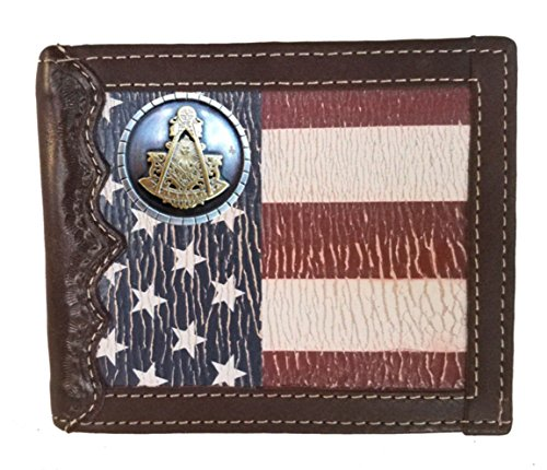 with background Master fold States Distressed Bi Past Custom Masonic Flag Wallet a United YwEnxAq7fq