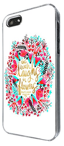 334 - Shabby chic Floral The Eart Smile in flowers Design iphone 5 5S Coque Fashion Trend Case Coque Protection Cover plastique et métal