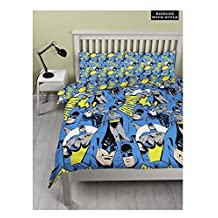 Kids DC Comic Batman Hero Double Duvet Cover Children Bed Quilt Bedding Set