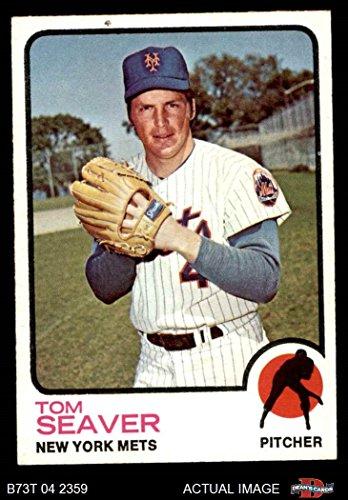 Card Tom Seaver (1973 Topps # 350 Tom Seaver New York Mets (Baseball Card) Dean's Cards 7 - NM Mets)