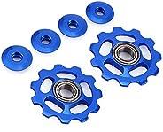 Stylrtop 2 pcs 11T Aluminum Sealed Bearing Jockey Wheel Rear Derailleur Pulley for Shimano Sram Rear Derailleu