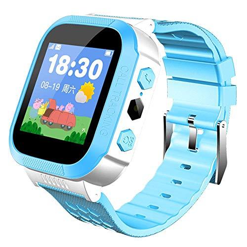FOONEE Kinder Smartwatch mit GPS-Uhr, wasserdichte Kinderuhr, Farbdisplay und Schrittzähler, Touchscreen, SOS Anti…